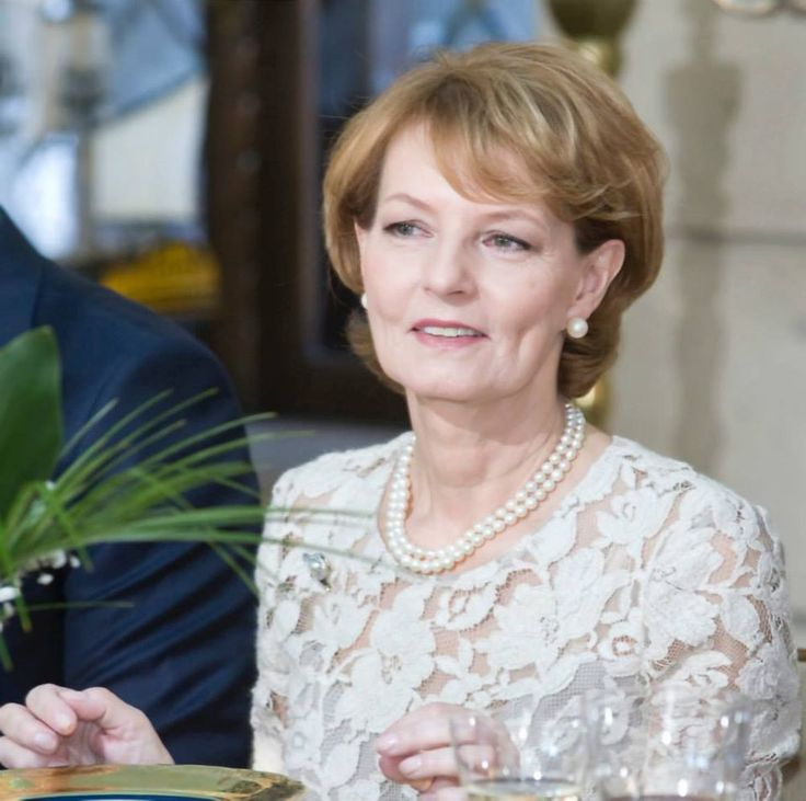 Princess Margarita of Romania - Political Brunch to celebrate King Michael's 92nd birthday and name-day.