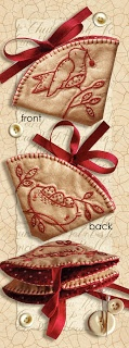 Needle Nest - embroidered needle keep - from the book: 'Simply Red' <3