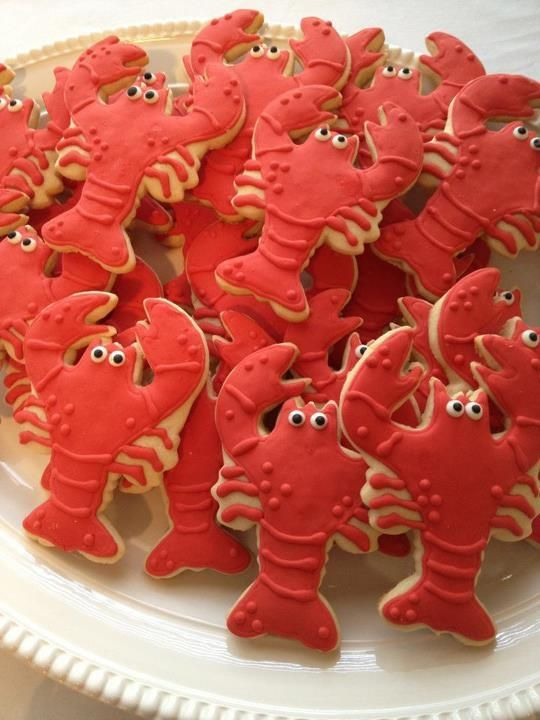 Crawfish boil wedding shower cookies