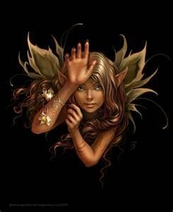 faries.. Love fairies!! :) want to draw this with a hamsa forsure!!!