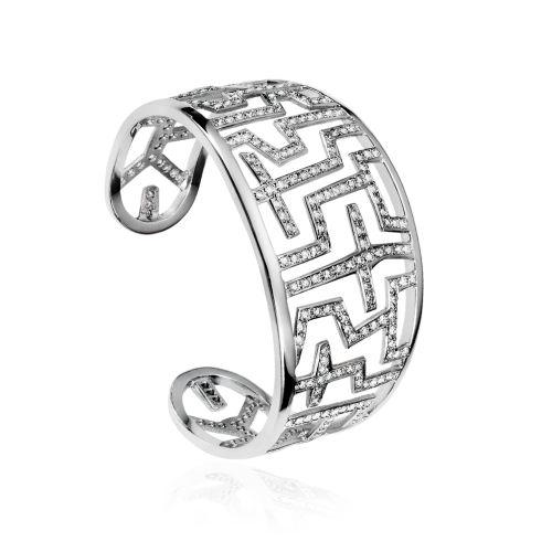 Entasis bracelet in 18KT white gold with diamonds