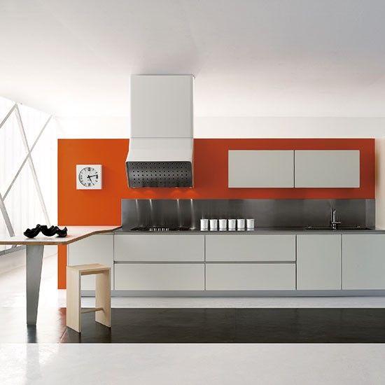 Sleek glossy galley | Modern kitchens | Contemporary kitchen | PHOTO GALLERY | Beautiful Kitchens | Housetohome.co.uk