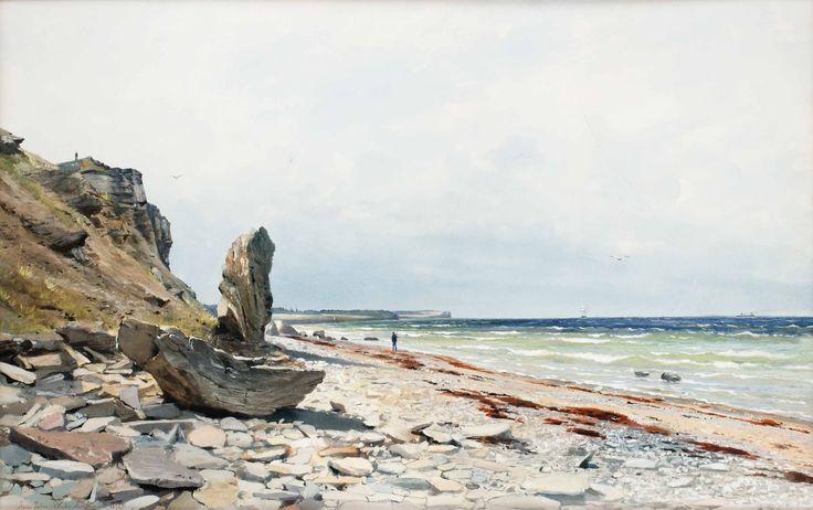 Anna Palm (1859-1924): Utsikt mot högklint, 1891
