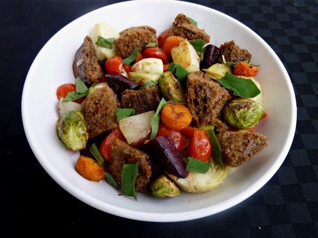 Roasted winter panzanella | Meals to Make - Fall/Winter | Pinterest