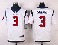 Houston Texans #3 Tom Savage White Elite Stitched Jersey price $25
