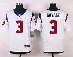 Houston Texans #3 Tom Savage White Elite Stitched Jersey price $25