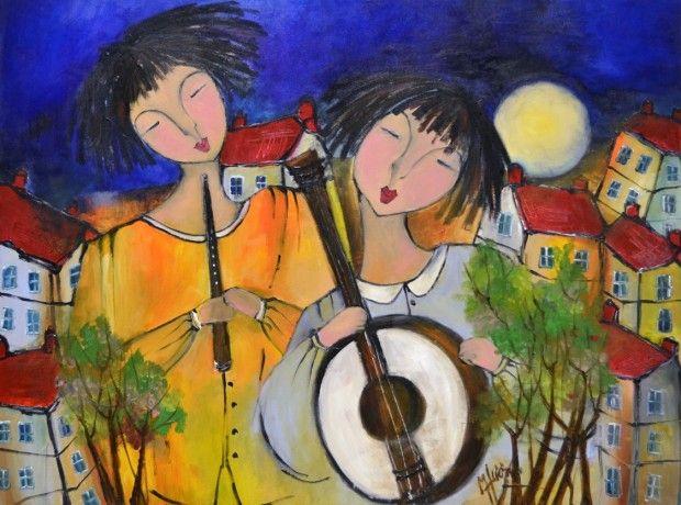 La Pause Nochene by Patricia Huong, Acrylic on Canvas, Painting | Koyman…