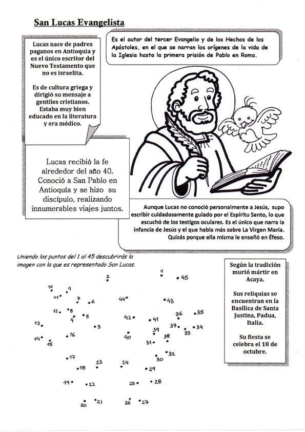 El Rincón de las Melli: Breve historia de San Lucas, Evangelista con juego...