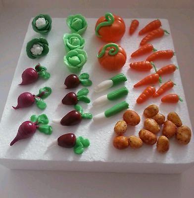 Handmade vegetables, garden, peter rabbit, fondant cake toppers | eBay