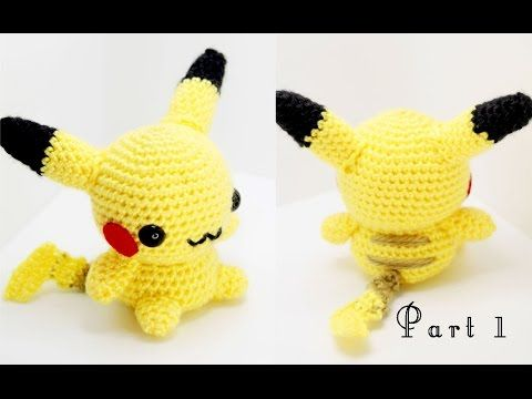 Pikachu Amigurumi Crochet Tutorial You'll Need: Light / medium weight worsted yarn in yellow, black, brown, and red (alternatively, red felt can be used in place of red yarn) Crochet hook compatible...