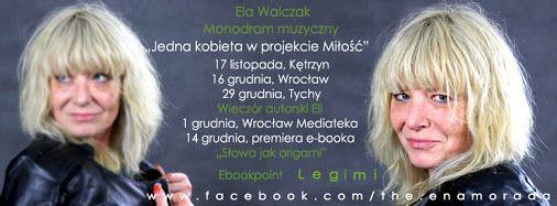"""Bilety na monodram """"Jedna kobieta w projekcie miłość"""" 16 grudnia Wrocław - Stara Kamienica można kupić na stronach https://www.kupbilecik.pl/baza-1777-jedna.kobieta.w.projekcie.milosc.html https://www.facebook.com/the.enamorada oraz na stronie teatru Wydarzenia 17 listopada i 29 grudnia - sprzedane"""