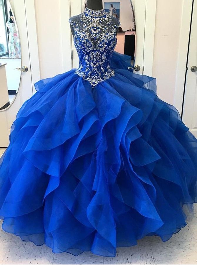 a16748d777 royal blue quinceanera dresses with beaded