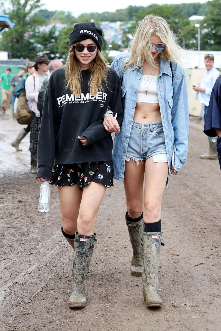 The Best Glastonbury Looks, Courtesy of 7 British It Girls via @WhoWhatWear