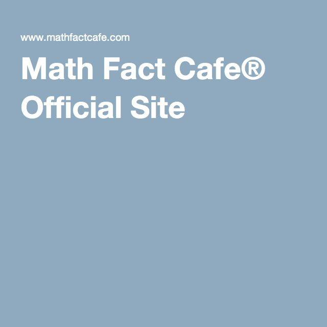 Math Fact Cafe Official Site Math Facts Math Elementary Math