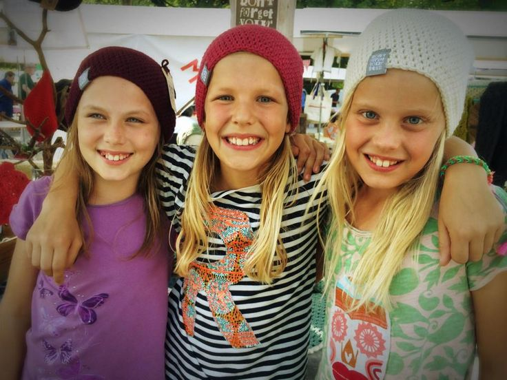 Happy girls with DFYH beanies