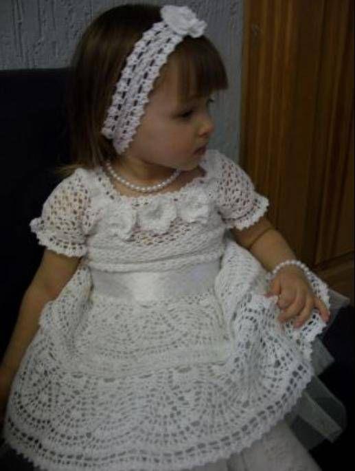 White Princesa free crochet graph pattern
