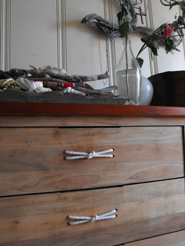 Rope Handles and Pulls: Decor, Handles Ideas, Pulled Handles, Diy Furniture, Drawers Pulled, Ropes Pulled, Boys, Ropes Handles, Ropes Drawers