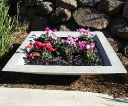 Cubic Crushed Stone Planter | Crushed Stone Planters | BigPlanters.com