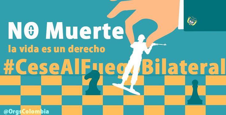 Soldados, guerrilleros, campesinos y campesinas todos víctimas de la misma guerra. #CeseAlFuegoBilateral