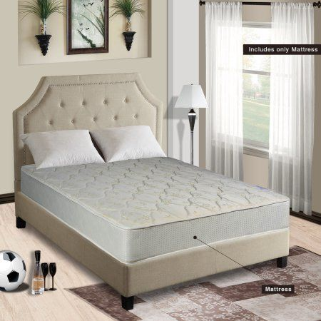 Innerspring Mattress, Hollywood Bed Coffee Queen Frame