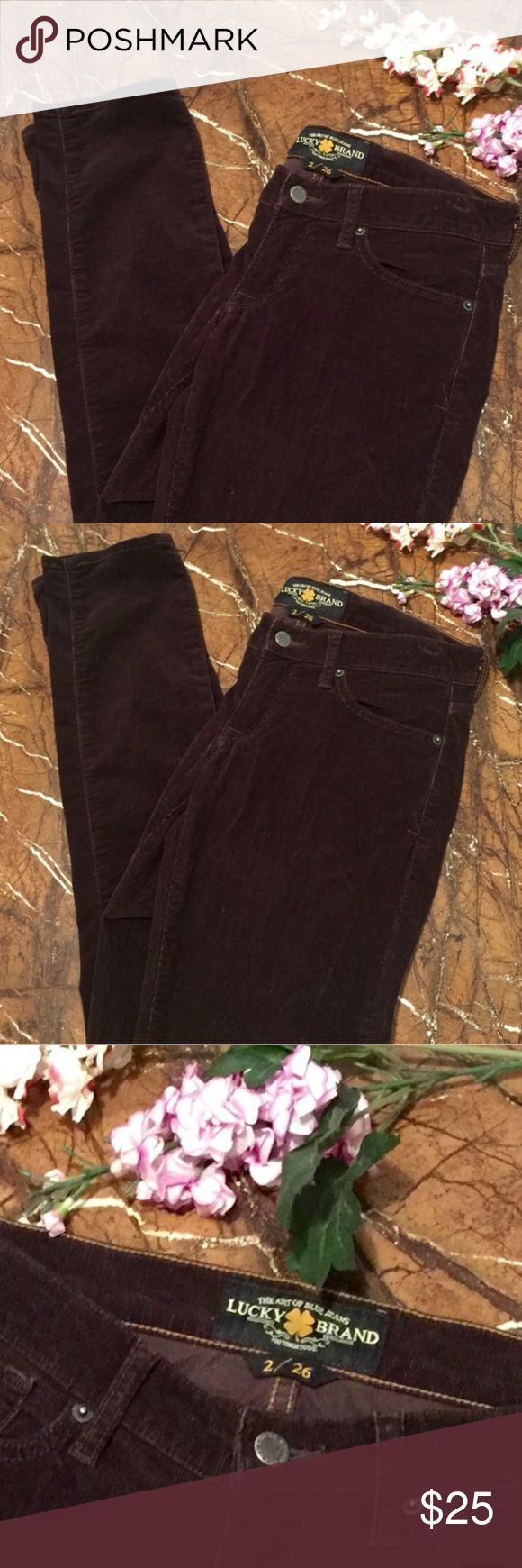 "🔥SALE🔥Lucky Brand Corduroy Brown Skinny Jeans Lucky Brand Brown Skinny Pants. Corduroy And Super Soft! Excellent Condition Like New! Inseam Is Approx 32"". 🚫 No Trades 🎉 Don't Forget To Bundle Up And Save!! Lucky Brand Jeans Skinny"