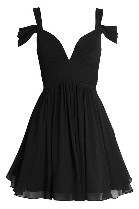 Homecoming Dresses, A line Mini Chiffon Homecoming Dress
