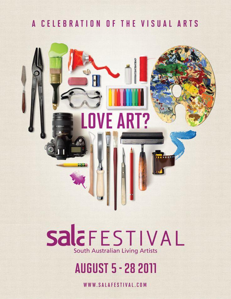 South Australian Living Arts Festival poster design.