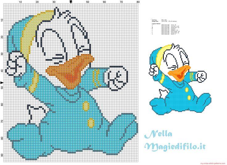 Baby Donald Duck in pajamas