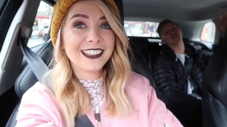 "Screenshoted from a Zoella vlog, ""I WANT AN ARMADILLO"""