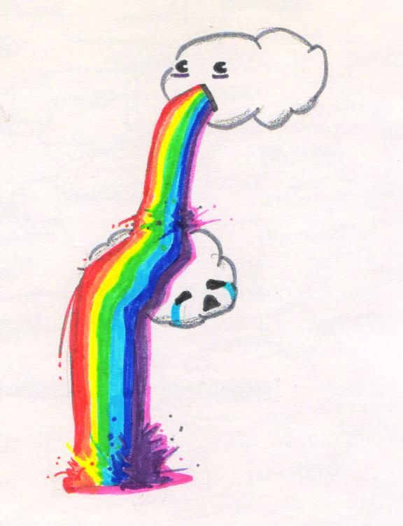 Rainbow Puking Clouds ...