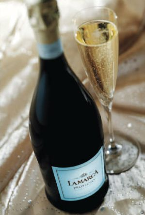 LaMarca Prosecco. Prosecco --my favorite!  It's an Italian wine that I find a refreshing alternative to Champagne.