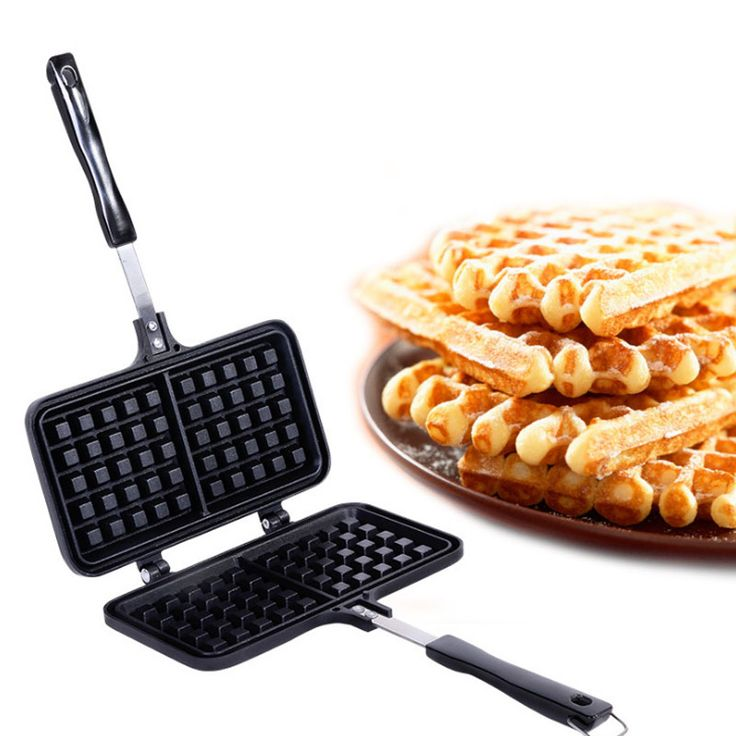 ==> [Free Shipping] Buy Best Kitchen Craft Non Stick Home Made Toasted Waffle Maker Stove Top Griddle Iron Online with LOWEST Price | 32810418757
