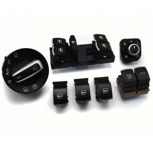 Window headlight mirror tailgate & fuel flap switch for VW Passat b6 / 3c 2006-2011 35D959903 5ND959565A 5ND941431B 5ND959855