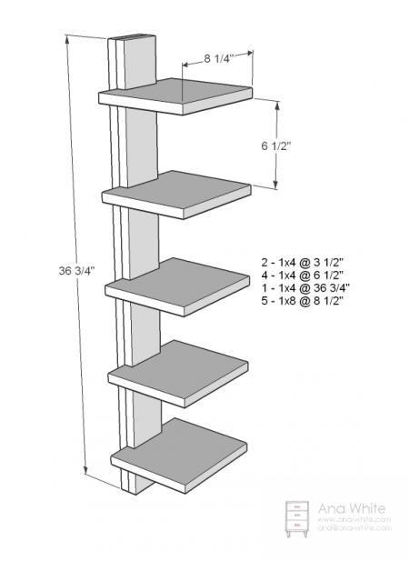 High Rise Shelf by Ana White