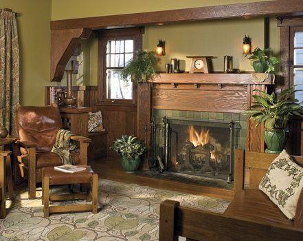 Nice fireplace mantel Arts & Crafts - Craftsman - Bungalow - Home                                                                                                                                                      More