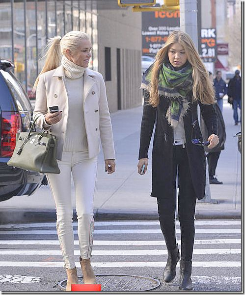 Yolanda Foster and daughter, Gigi.