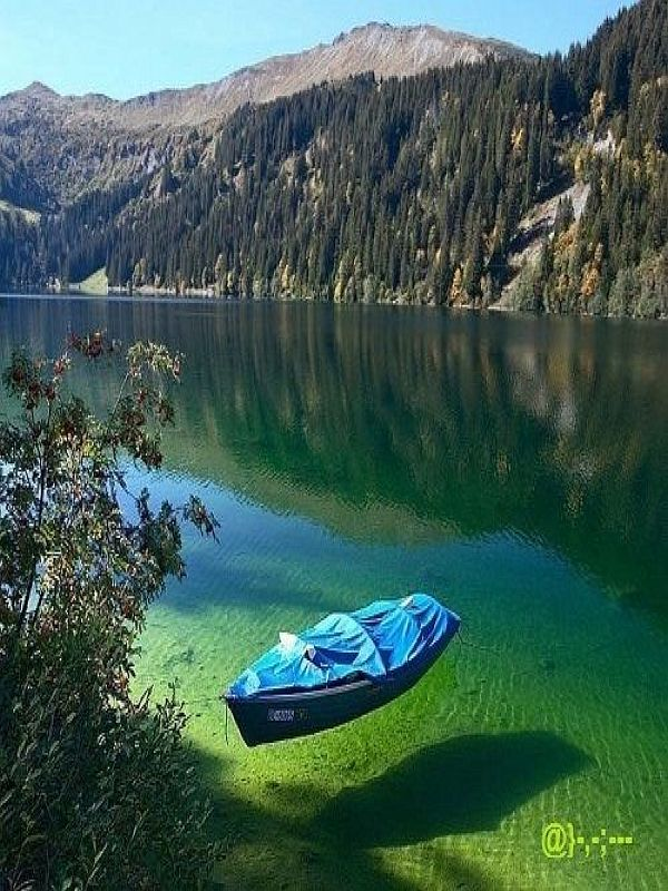 Konigssee the cleanest lake in Germany. The boat looks like its floating in mid air! ...have never seen a lake that clean wow
