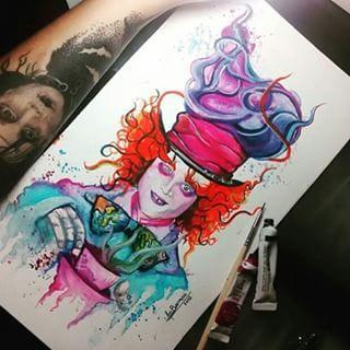 tatuagem chapeleiro maluco aquarela - Pesquisa Google