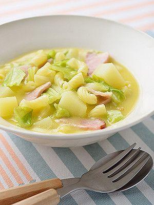 春キャベツとマカロニの簡単具沢山スープ by 日清フーズ [クックパッド] 簡単おいしいみんなのレシピが230万品