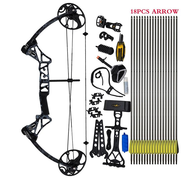 Amazon.com : Compound Bow Package, M1 with 19-30 Inch Draw Length, 19-70Lbs Draw Weight, 320fps IBO $269.99 & FREE Shipping
