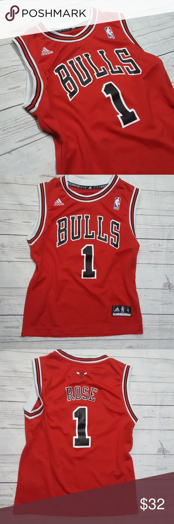 Adidas NBA Bulls Rose #1 Jersey Good condition just some snags and loose threads (see photos) adidas Tops
