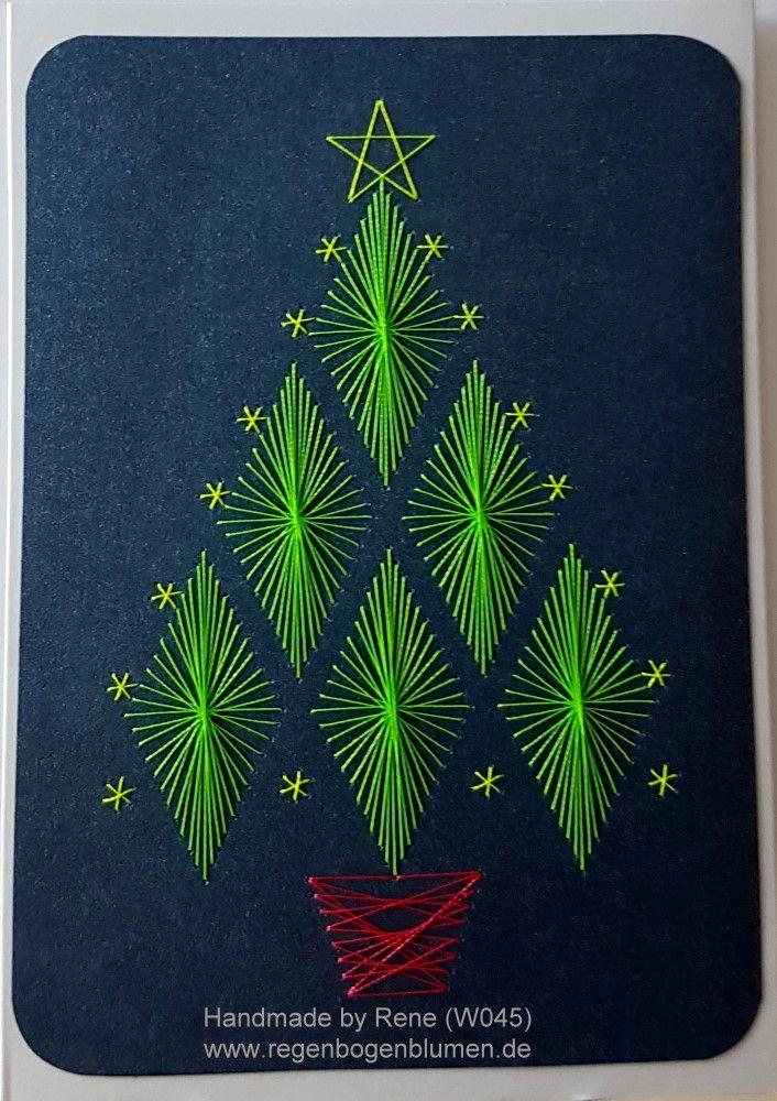 Grußkarten-Set Weihnachten 045 Neon - Motiv: Weihnachtsbaum 10 Neon - Copyright des Motives: Form-A-Lines - Doppelkarte mit Umschlag im Format A6