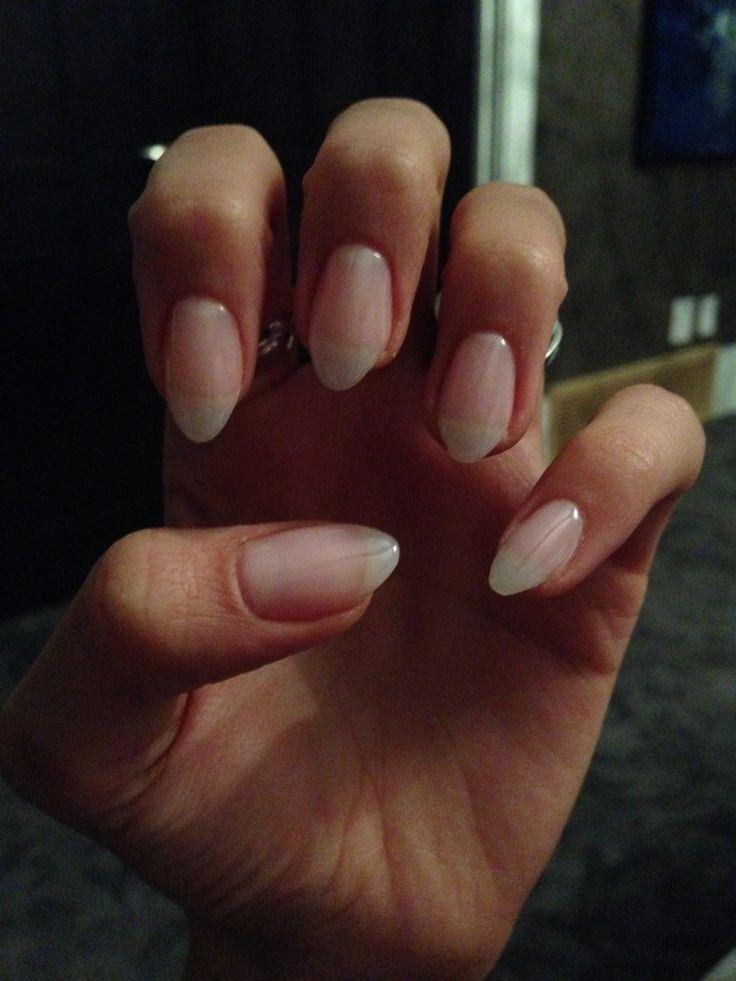Light Blue Acrylic Nails Almond Short