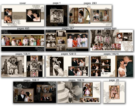 INSTANT DOWNLOAD - 12x12 Wedding Album template - Modern Indian - 0370 FA