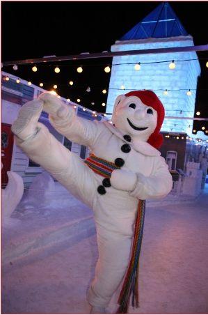 Gotta love Quebec's Winter Carnival and its mascot, Bonhomme!