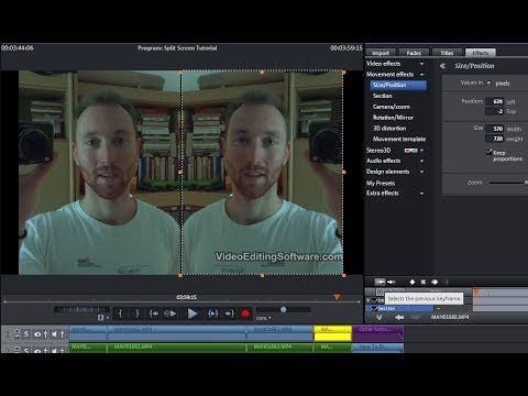 Split Screen Tutorial - Crop & Mirror Flip Video - Magix Video Pro X