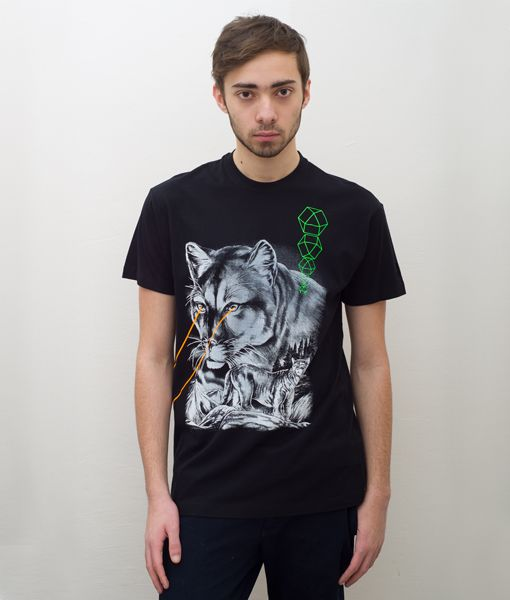 *Cosmic* Cougar Black T-Shirt