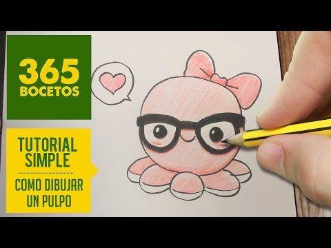 COMO DIBUJAR UN PULPO KAWAII PASO A PASO - Dibujos kawaii faciles - How to draw a octopus - YouTube