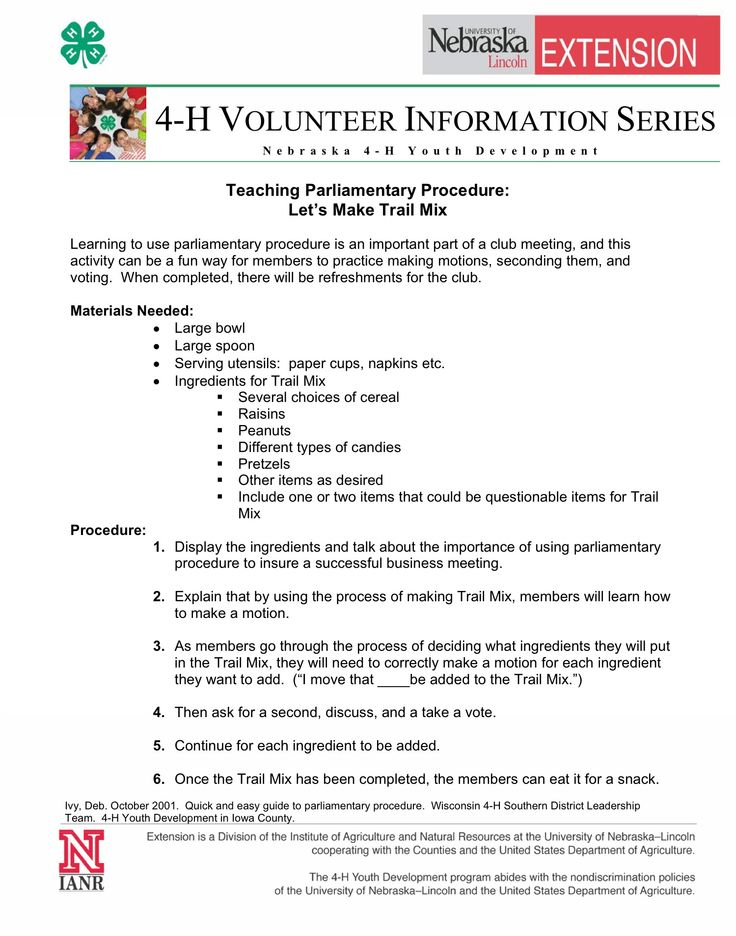 15 best Parliamentary Procedure Tips images on Pinterest 4 h - business meeting report template