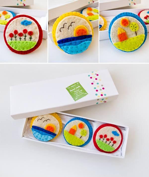 Felt Magnets - Handmade with love  https://www.facebook.com/The3LittlePigs
